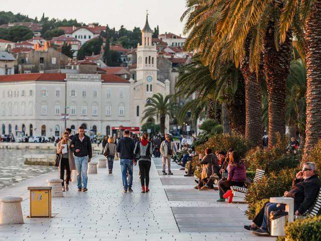 A pleasant walk on Split Riva