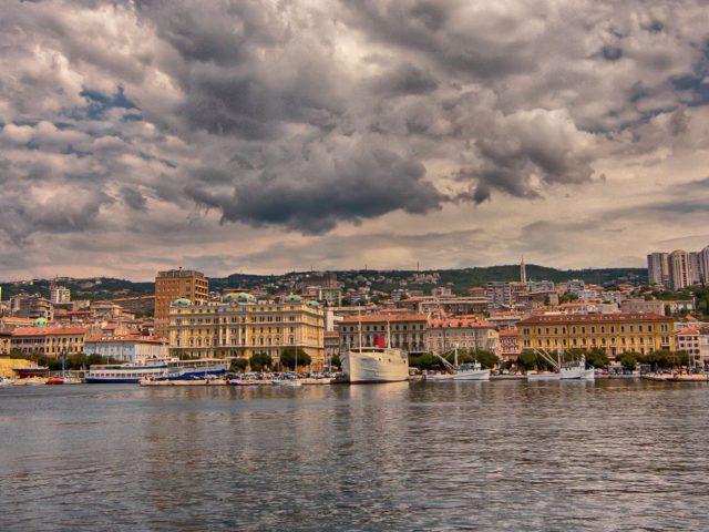 Rijeka on a rainy day