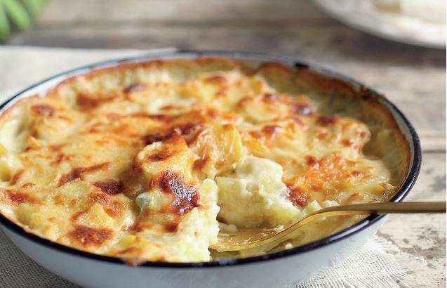 Roasted Potato in Fresh Onion Crème Preparation