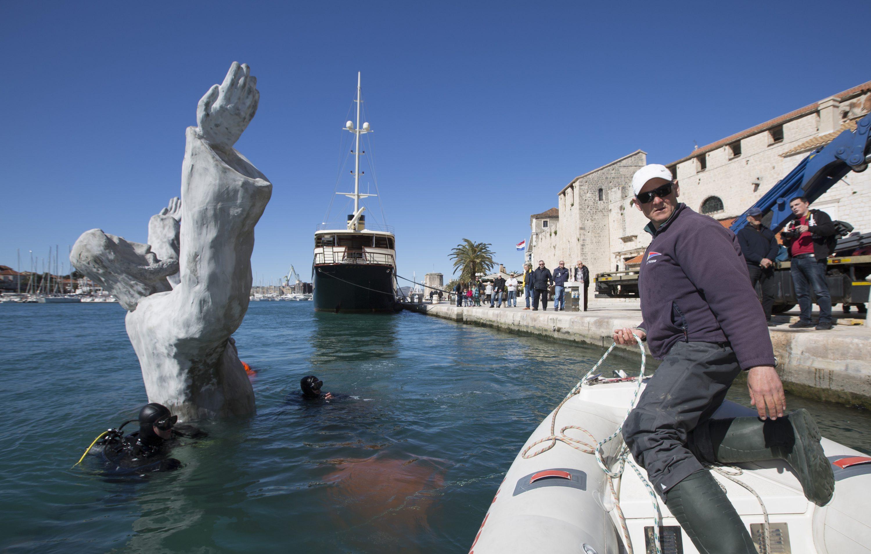 The Underwater Sculpture of Jesus