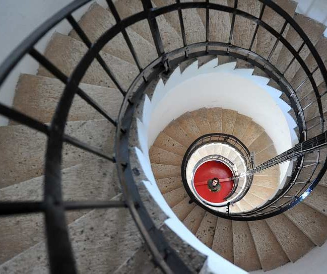 Spiraling staircase in Veli rat Lighthouse