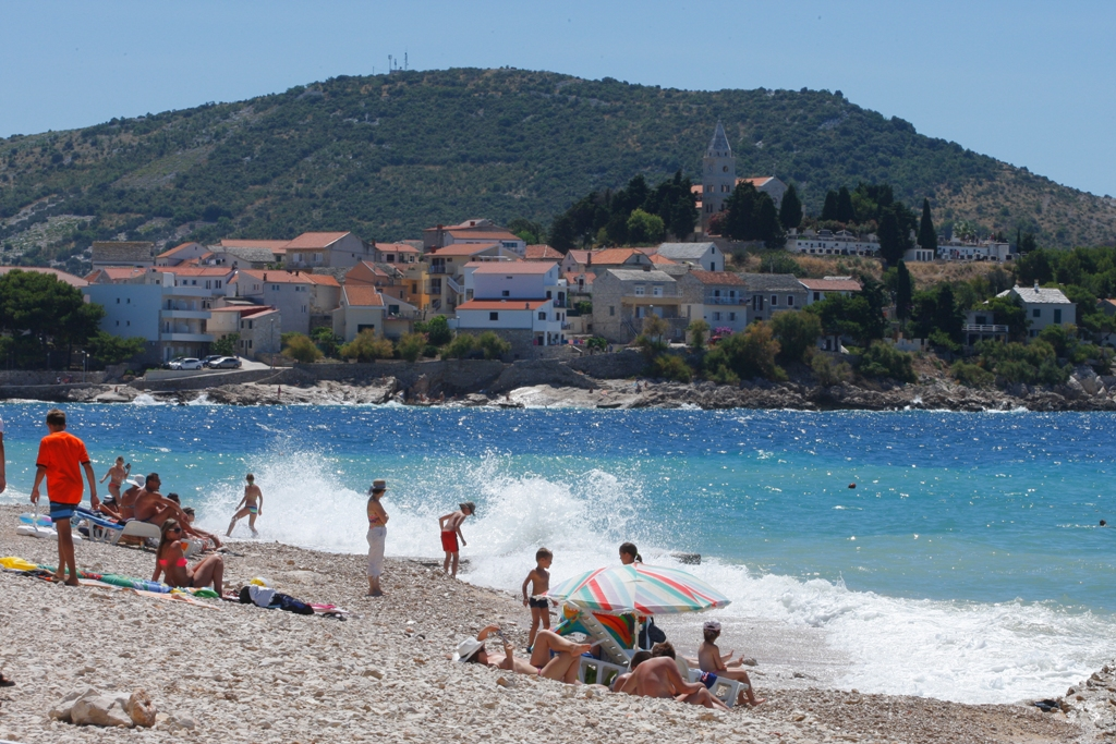 Primosten, beach, Adriatic, Dalmatia, summer