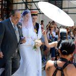 Dubrovnik, 06.06.2014 - Fabiola Beracasa iz Kazalista Marina Drzica krenula je prema Sponzi na vjencanje