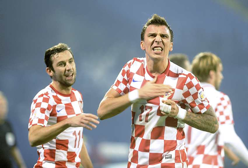 Dario Srna, Mario Mandzukic, Croats, Team, Soccer Cup