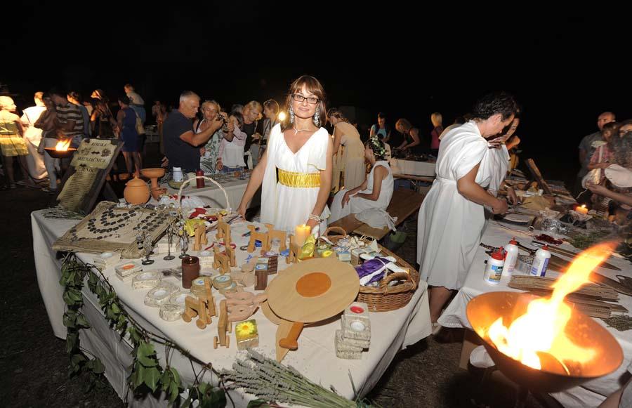 Ivosevci, 13.08.2014 - Odrzane 8. Burnumske ide u rimskom amfiteatru Burnum