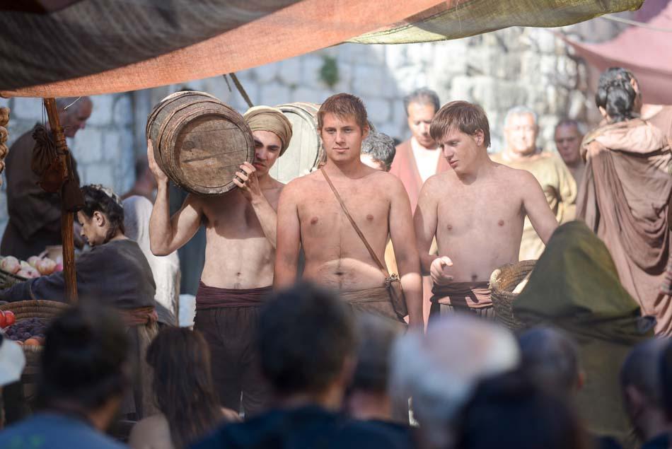 Dubrovnik, 26.09.2014 - U staroj gradskoj jezgri cetvrtu godinu zaredom snima se popularna Igra prijestolja