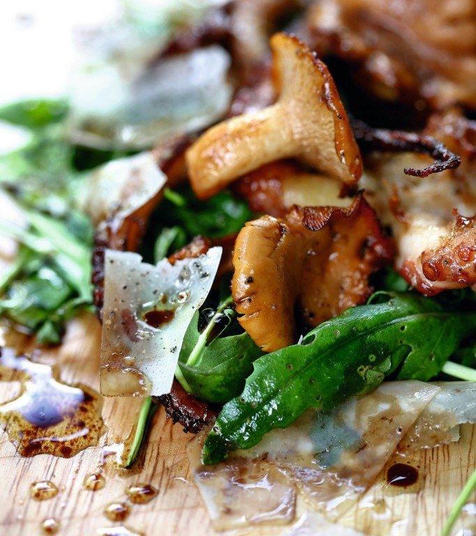 Octopus with Chanterelles Salad