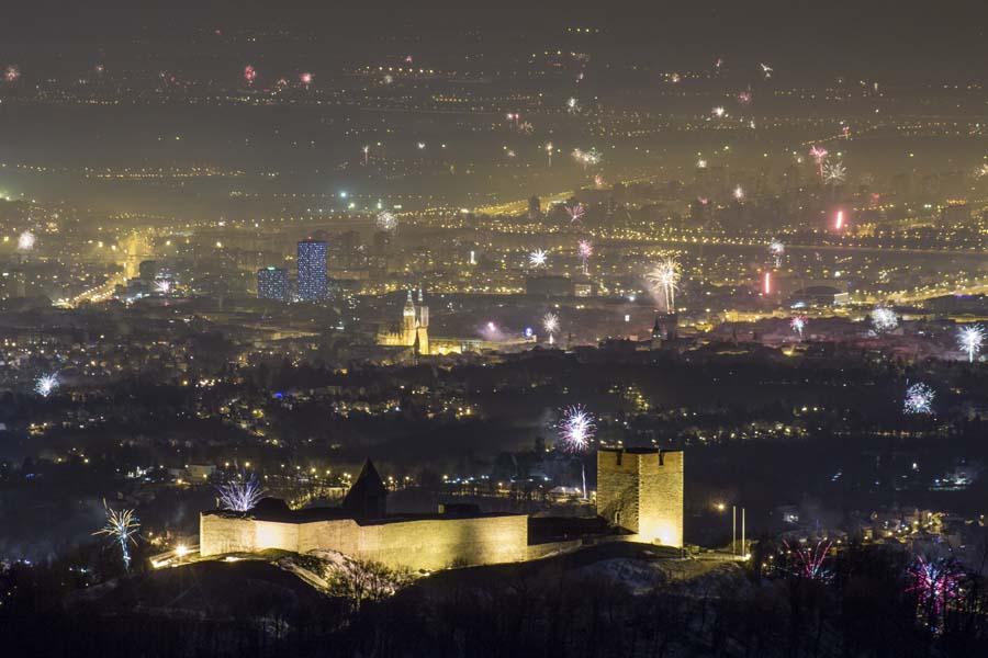 Fireworks over Zagreb