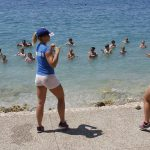 Having Gym Class in Makarska