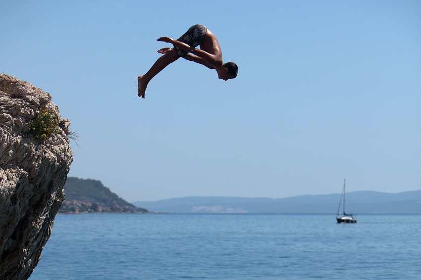 Jumping near Stobrec