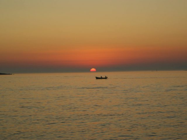 Sunset from Obod Beach