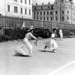 Playing Tennis in Vintage Zagreb