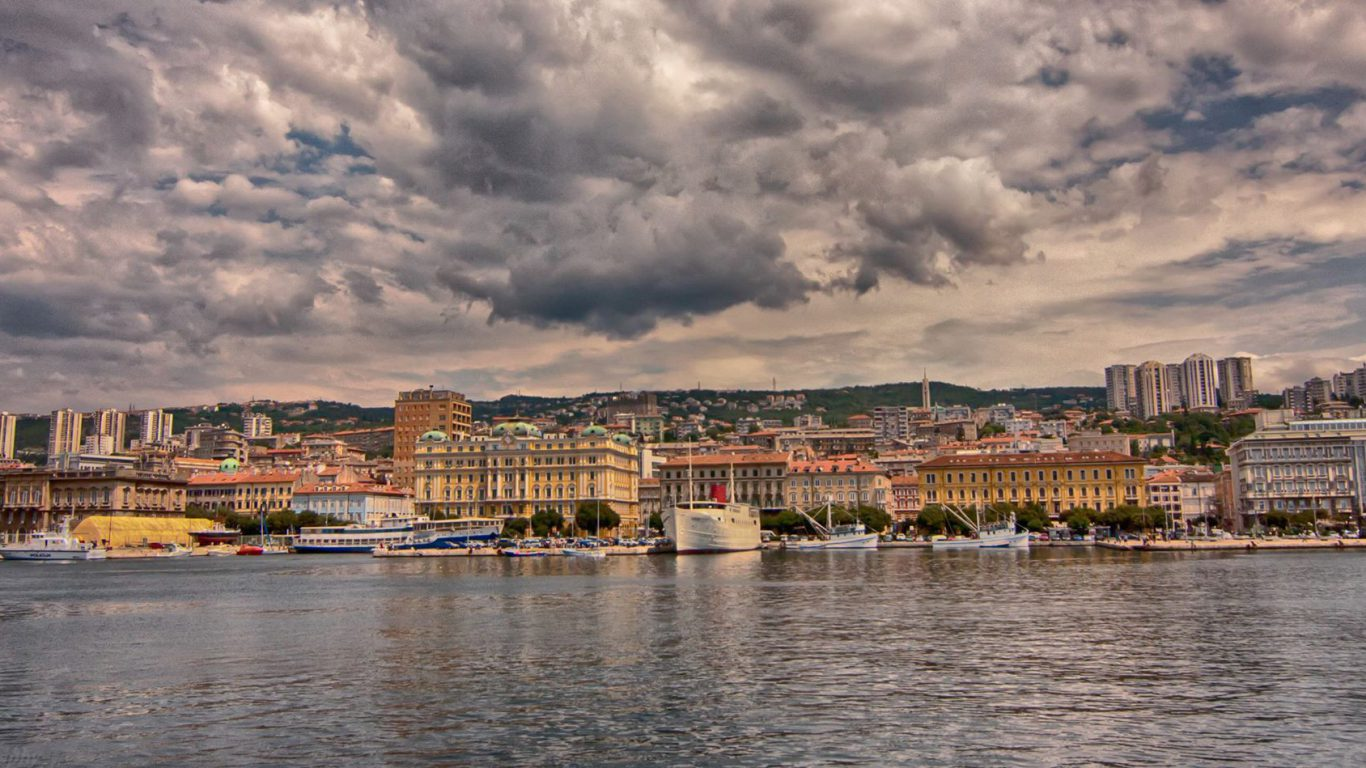 Rijeka on a rainy day