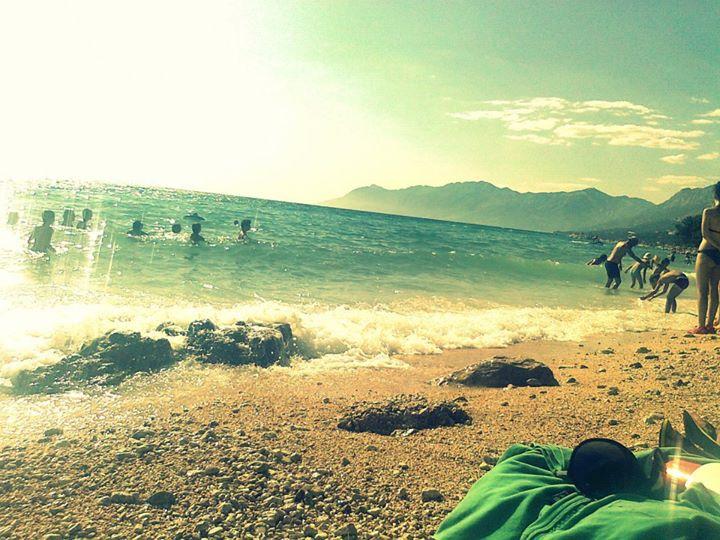 Adriatic Sea in Retro Style