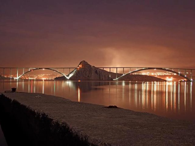 Lights of Krk Bridge