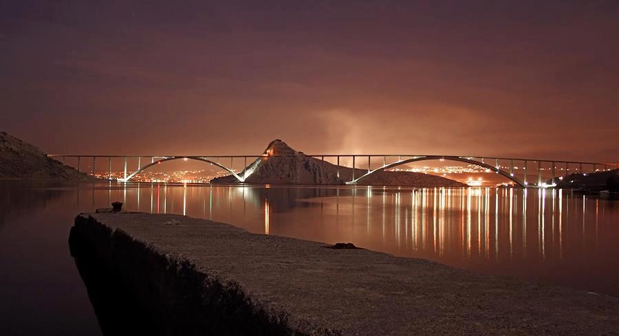 Lights of Krk Bridge
