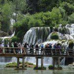 Celebrating Work on Krka Falls
