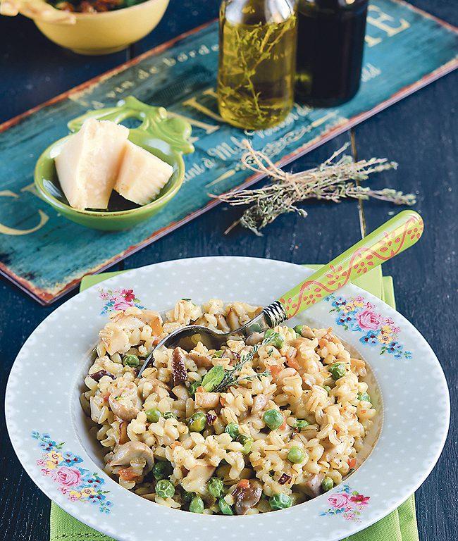 Peas & Mushrooms Barley Recipe