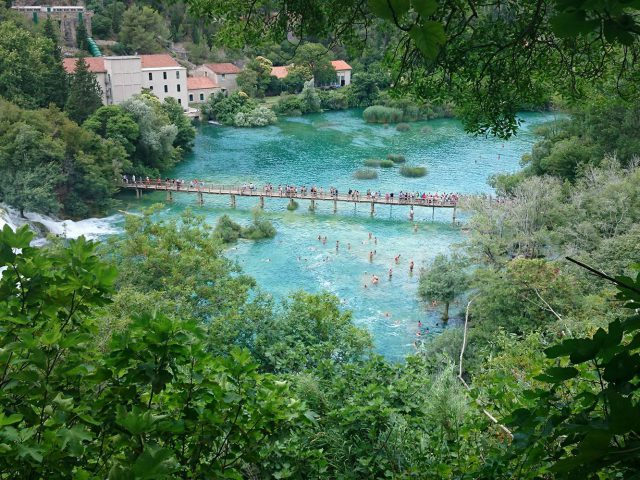 The Bridge of the River Krka by Mathias Dumichen