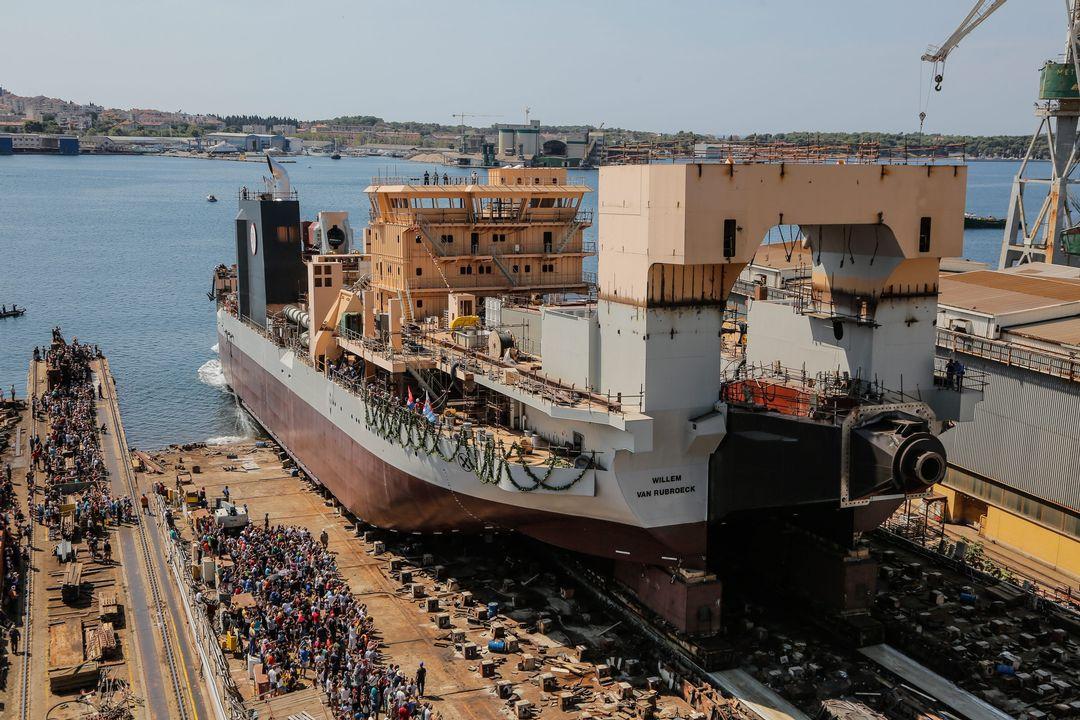Powerful Dredging Ship