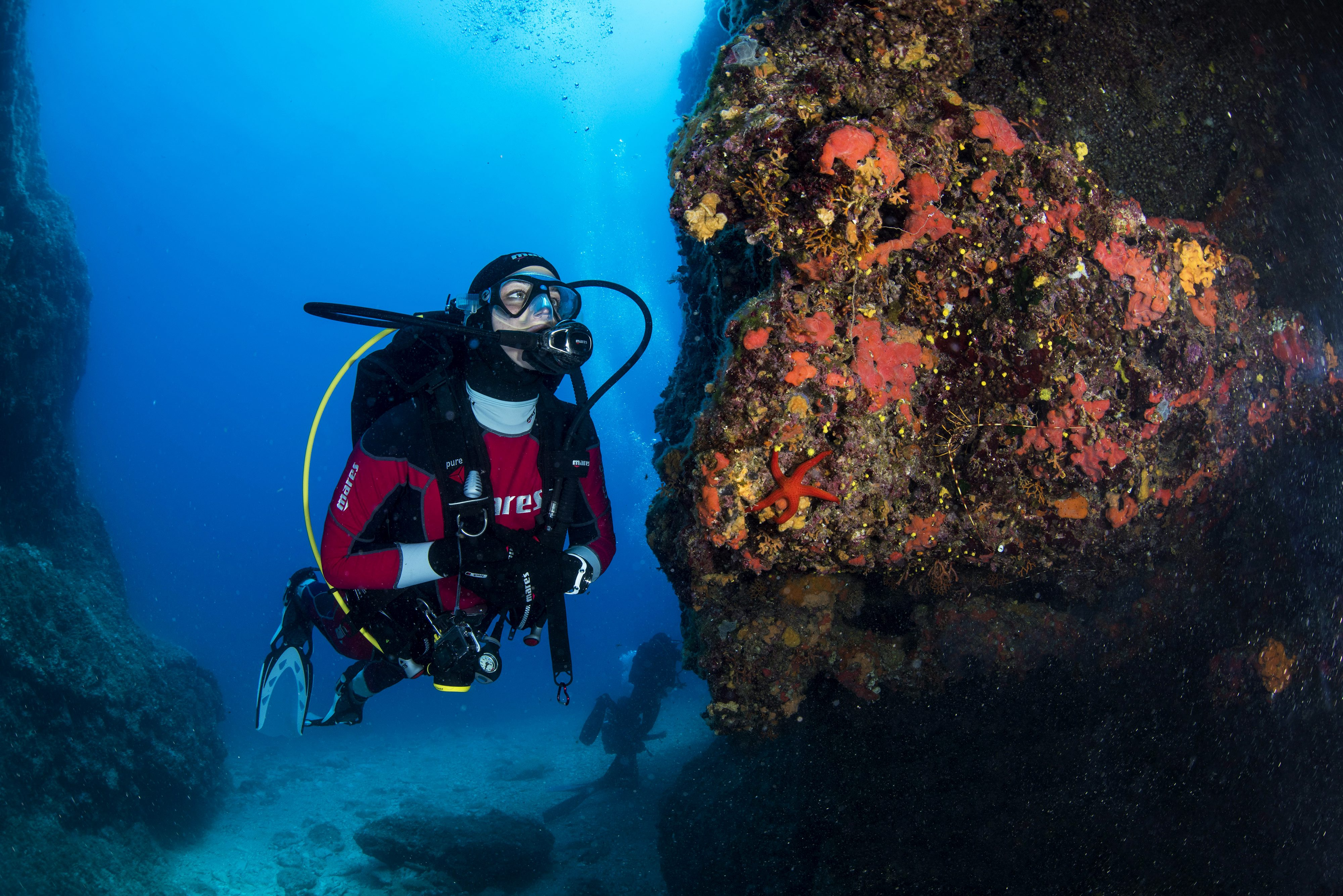 waters of Vis, scuba, diver